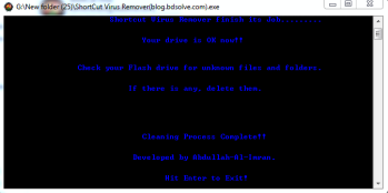 USB shortcut virus remover